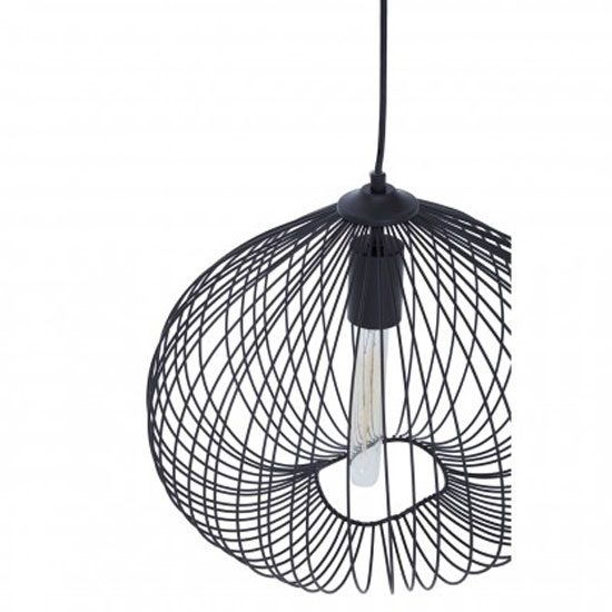 Lavish 1 Pendant Light In Black_2