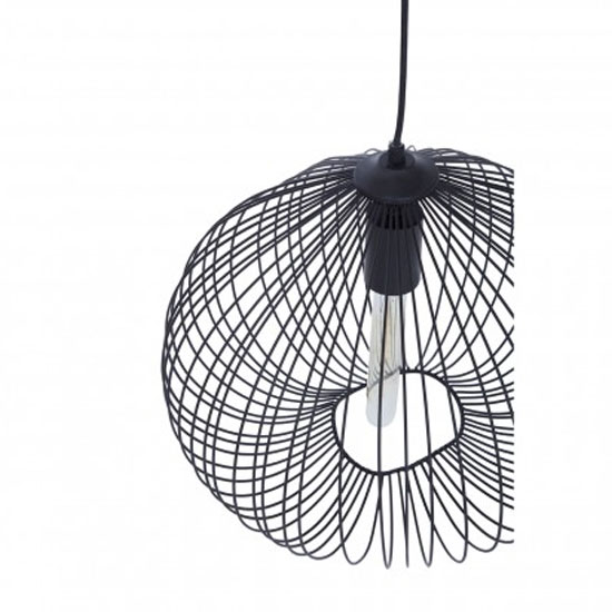 Lavish 1 Pendant Light In Black_3