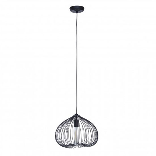 Lavish 1 Pendant Light In Black_1
