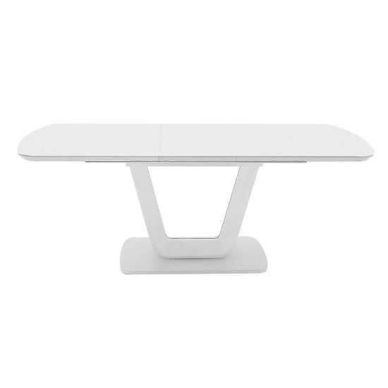 Lazzaro High Gloss Extending Dining Table With Gloss Top White_1