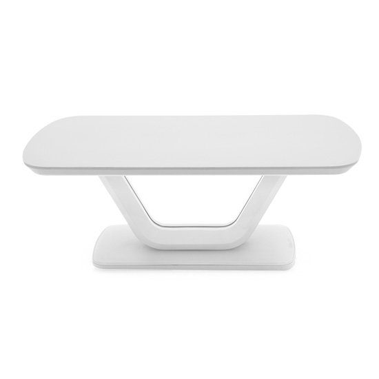 Lazzaro High Gloss Coffee Table In White With Glass Top