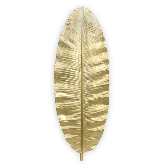 Leaf Poly And Fiberglass Wall Art In Gold