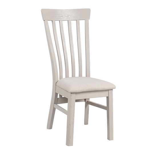 Leanne Wooden Dining Chairs In Stone Washed White Finish