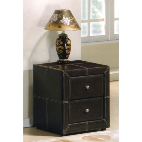 Leather Contemporary Bedside Tables