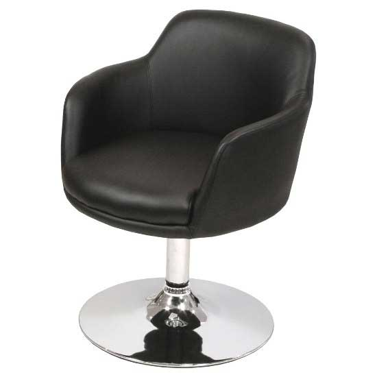 Bucketeer Bistro Chair In Black Faux Leather
