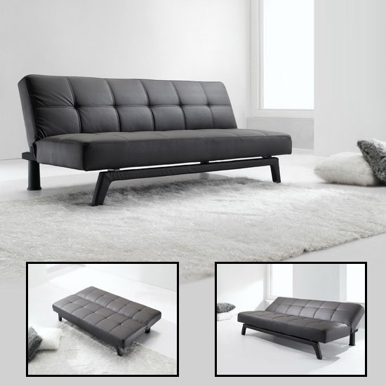 Read more about Paris brown faux leather sofa beds