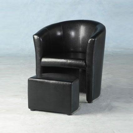 leather tub chair sofa black - Nightclub Furniture That Really Swings