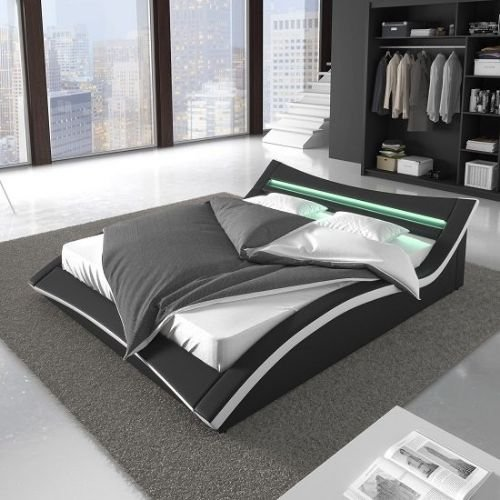 Check out our contemporary leather beds with storage in various designs and colors