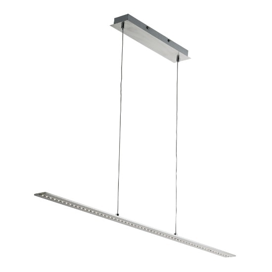 Satin Silver LED Bar Light With Clear Glass