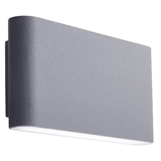 LED Outdoor Wall Light In Grey With Frosted Diffuser