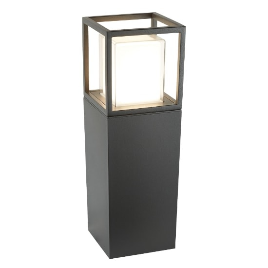 Ohio Outdoor LED Post In Dark Grey Opal White Clear Diffuser