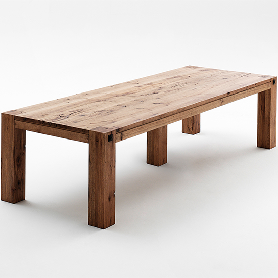 Leeds Extra Large Wooden Dining Table In Oak Bassano