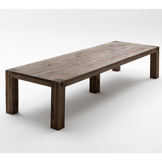Leeds Extra Large Wooden Dining Table In Oak Weathered