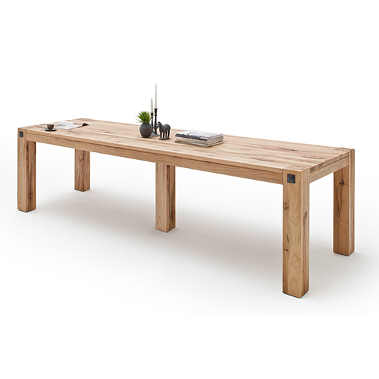 Leeds Extra Large Wooden Dining Table In Wild Oak