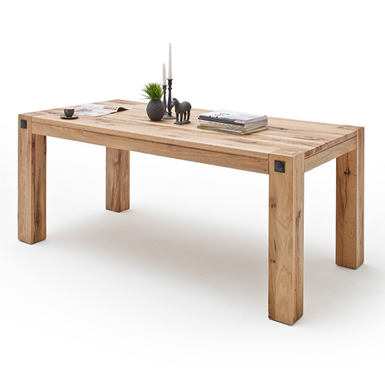 Leeds Small Wooden Dining Table In Wild Oak