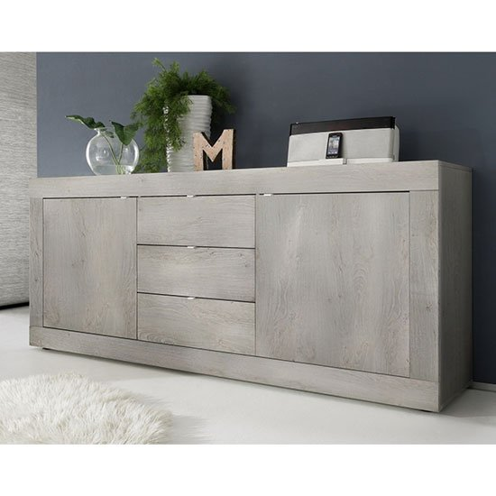 Taylor Wooden Sideboard In White Pine With 2 Doors 3 Drawers