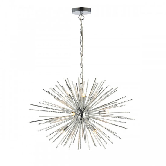Lena Wall Hung 9 Pendant Light In Clear Capsule