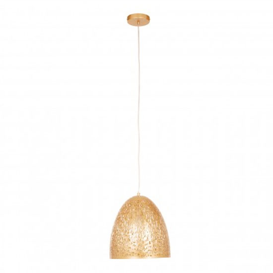 Lennon Bell Shaped Pendant Light In Gold