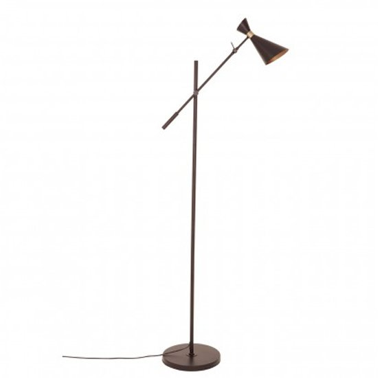Lenox Floor Lamp In Black And Gold