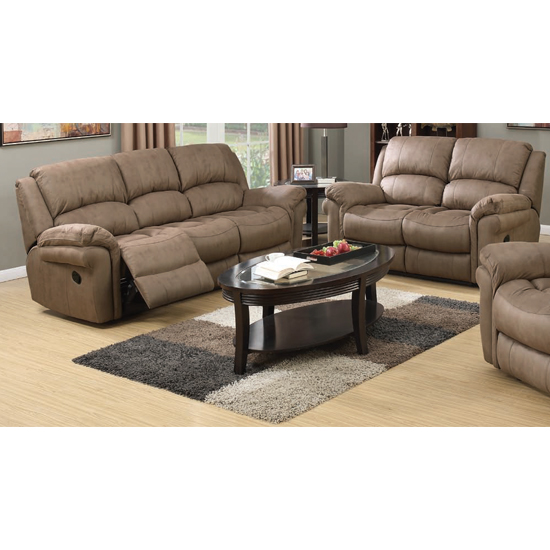 View Lerna fabric 3 seater sofa and 2 seater sofa suite in taupe