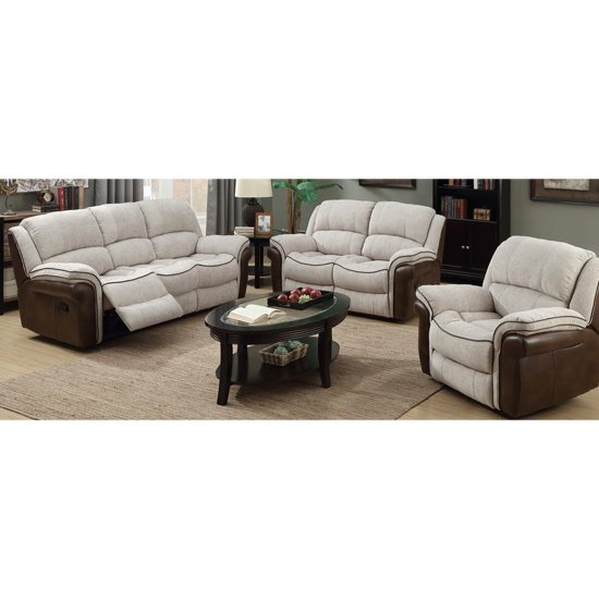 Lerna Fusion 3 Seater Sofa And 2 Armchairs Suite In Mink