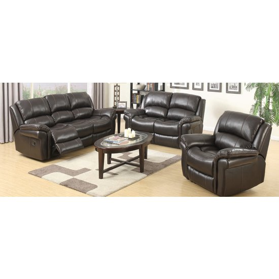Lerna Leather 3 Seater Sofa And 2 Seater Sofa Suite In Brown