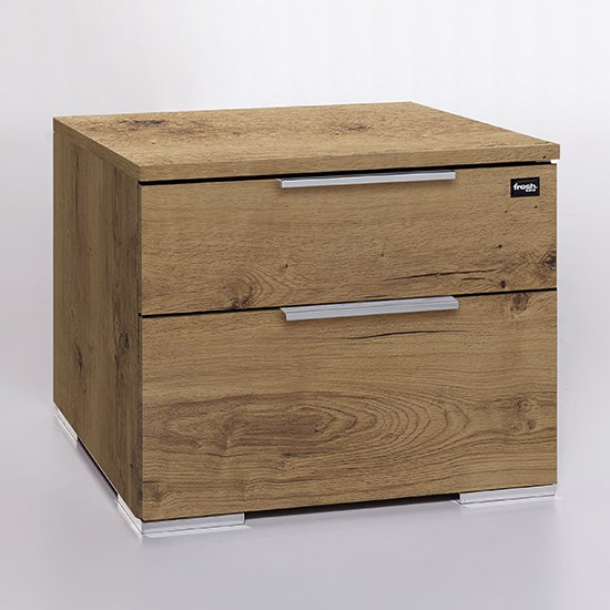 Levelup Wooden Chest Of Drawers In Planked Oak