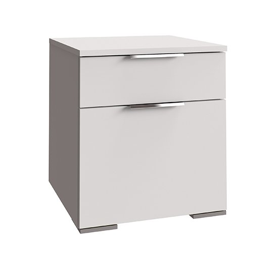 Levelup Wooden Chest Of Drawers In White With 2 Drawers