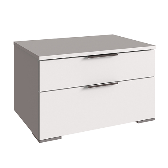 Levelup Wooden Wide Chest Of Drawers In White