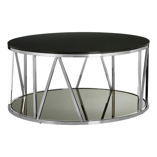 Levinson Marble Coffee Table In Chrome Line Design Frame
