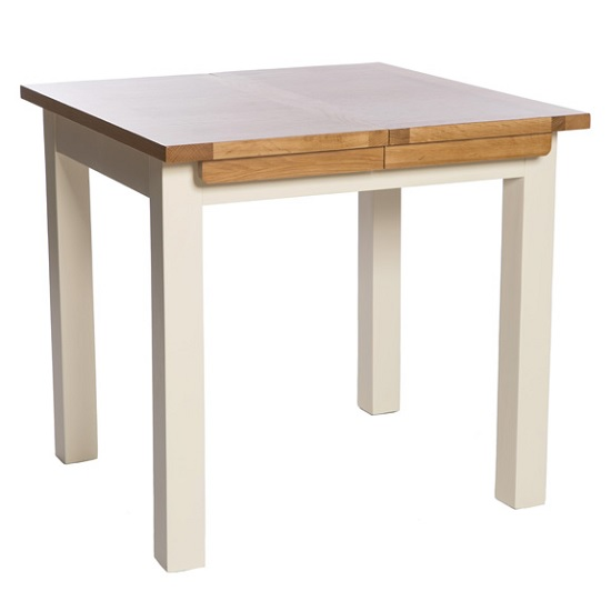 Product photograph showing Lexington Wooden Extending Dining Table In Ivory