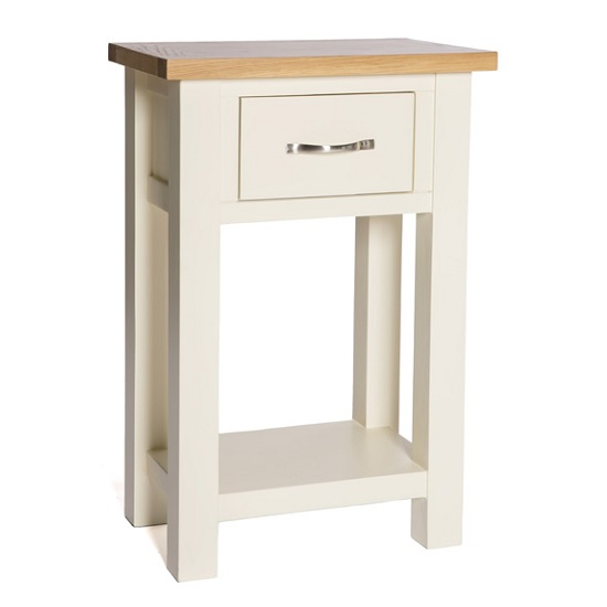 Lexington Wooden Console Table In Ivory With 1 Drawer