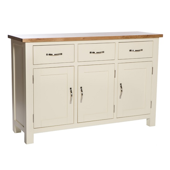 Lexington Wooden Sideboard In Ivory With Storage