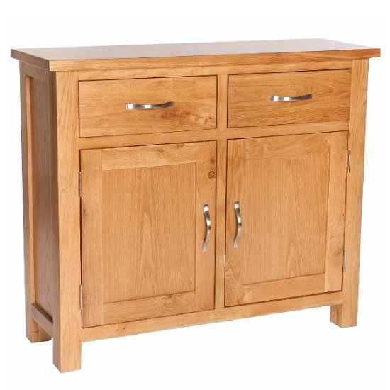 Lexington Compact Wooden Sideboard In Oak With Storage
