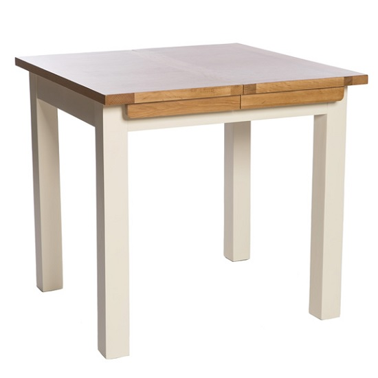 Lexington Wooden Extending Dining Table Small In Ivory
