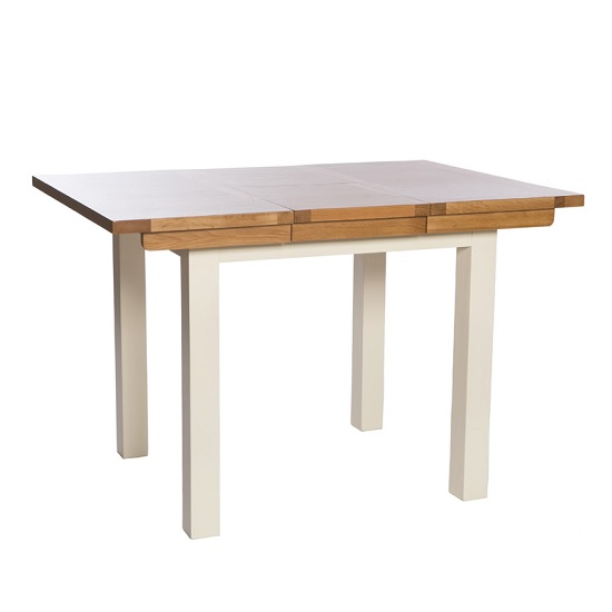 Lexington Wooden Extending Dining Table Small In Ivory_2