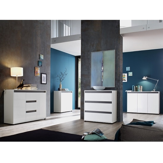 Leyton Compact Sideboard In White High Gloss Fronts And Grey_3
