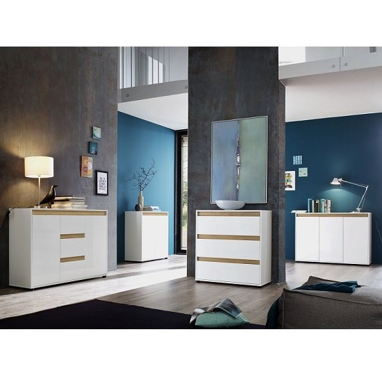 Leyton Compact Sideboard In White High Gloss Fronts And Grey_6