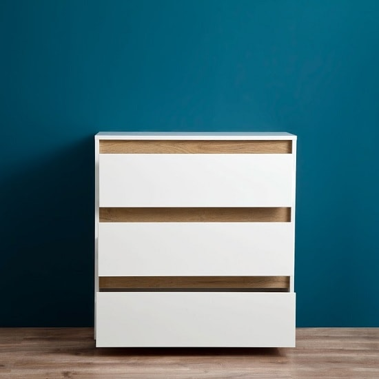 Leyton Chest Of Drawers In White High Gloss Fronts And Grey_5