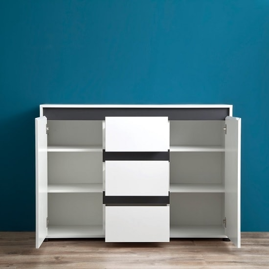 Leyton Sideboard In White With High Gloss Fronts And Oak_4