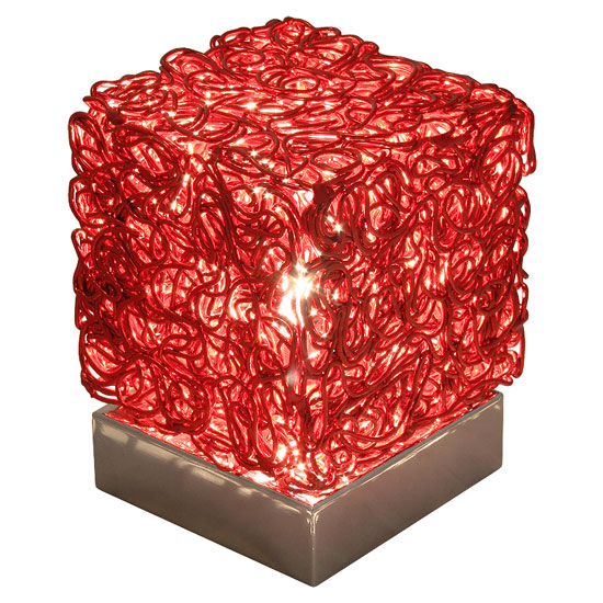 lh72 wire light cube red - How to Create Ambient Lighting in Your Dining Room
