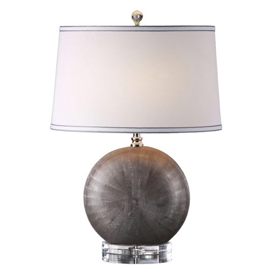 Liadan Metallic Antique Silver Table Lamp