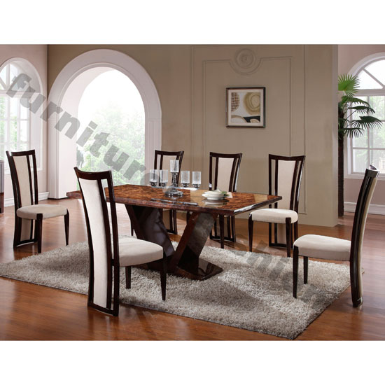 Libra Marble Dining Table In Gloss Walnut With 4 Libra  : libra dining set from www.furnitureinfashion.net size 550 x 550 jpeg 58kB