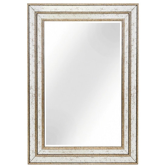 Libra Wall Mirror Rectangular In Antique Gold Finish