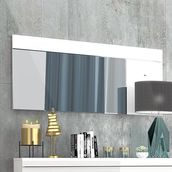 Lice Wall Bedroom Mirror With White High Gloss Frame