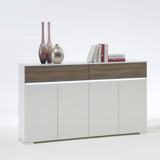 Toscana White High Gloss Coffee Table: Contemporary Coffee Table In White High Gloss 8738 Furniture