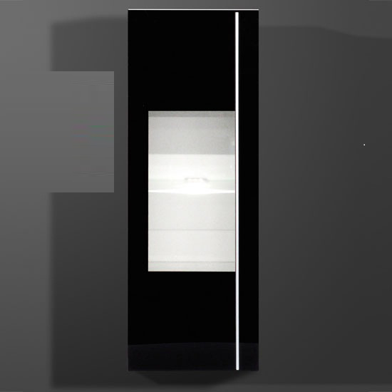Energy Freestyle Wall Mounted Cabinet In Black With LED Light