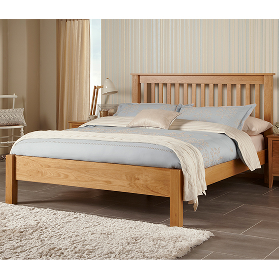 Lincoln Wooden King Size Bed In Oak