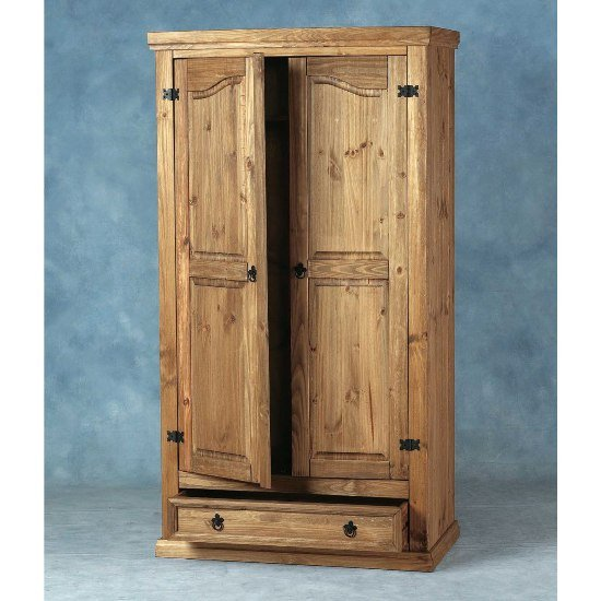 Corona 2 Door & 1 Drawer Wardrobe
