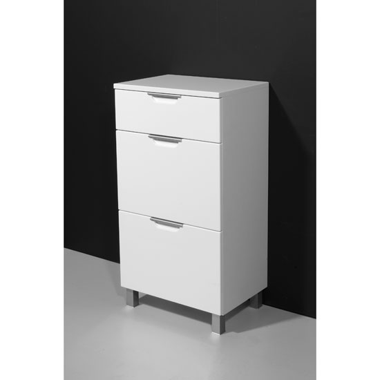 Liquid Freestanding High Gloss Front Bathroom Cabinet